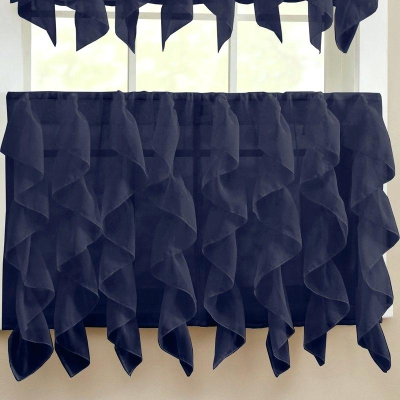 Inspiration about Ruffled Tier Curtains – Shubhanga Inside Sheer Voile Ruffled Tier Window Curtain Panels (#46 of 50)