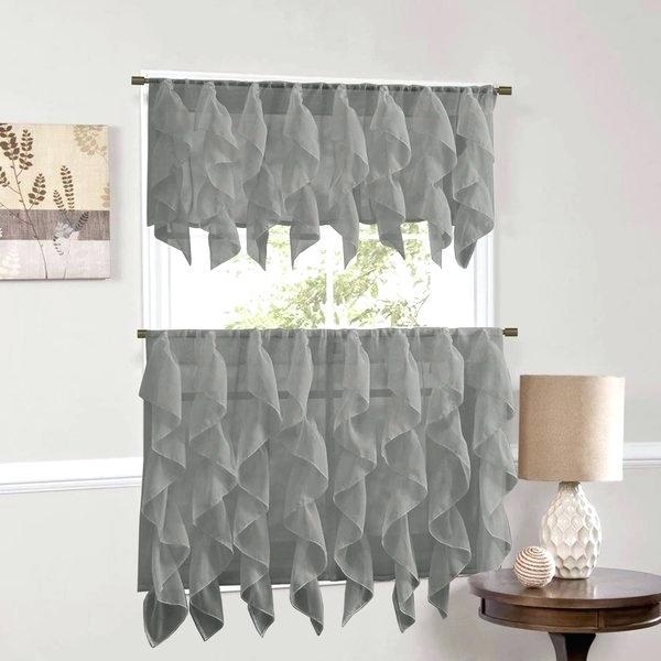 Ruffled Tier Curtains – Shubhanga Pertaining To Sheer Voile Waterfall Ruffled Tier Single Curtain Panels (#32 of 50)