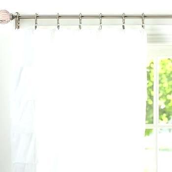 Inspiration about Ruffled Tier Curtains – Shubhanga Regarding Sheer Voile Ruffled Tier Window Curtain Panels (#14 of 50)