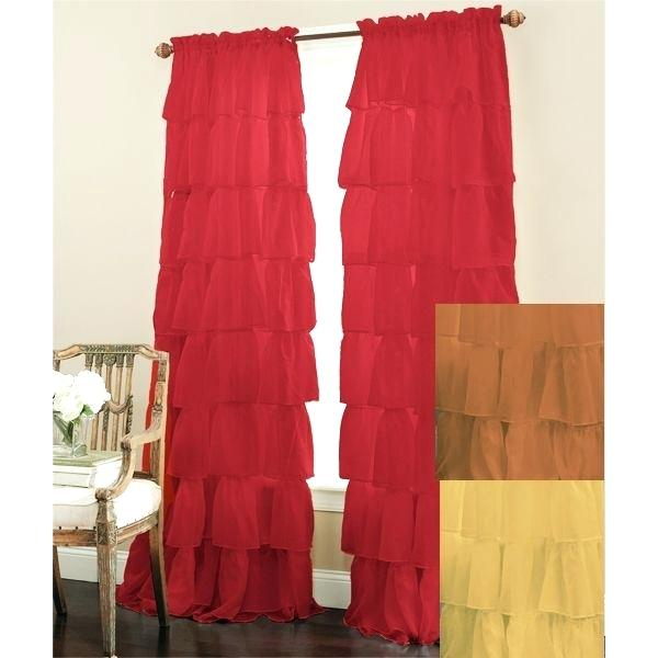 Inspiration about Ruffled Window Curtains – Dealerhondacijantung.club Throughout Sheer Voile Ruffled Tier Window Curtain Panels (#22 of 50)