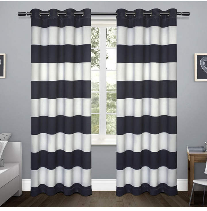 Rugby Sateen Woven Blackout Grommet Top Curtain Panel Pair In Woven Blackout Curtain Panel Pairs With Grommet Top (#38 of 42)