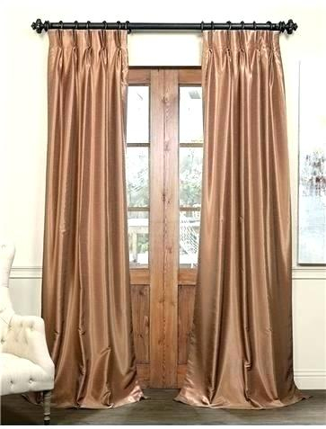 Rust Colored Drapes Curtains Flax Gold Blackout Vintage With Regard To Ice White Vintage Faux Textured Silk Curtain Panels (View 36 of 50)