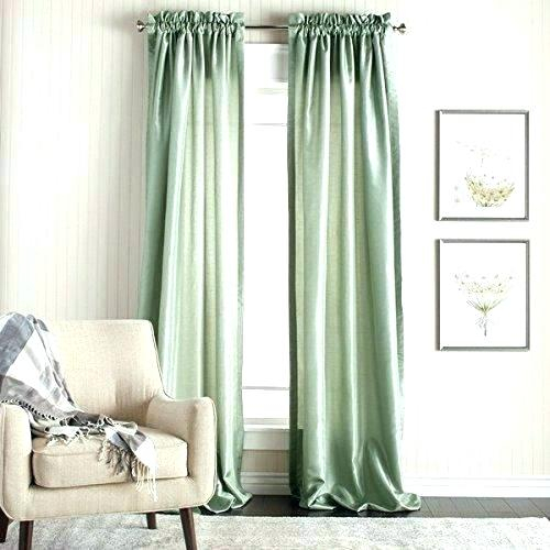 Sage Color Curtains – Hsquint Inside Sateen Woven Blackout Curtain Panel Pairs With Pinch Pleat Top (#27 of 40)