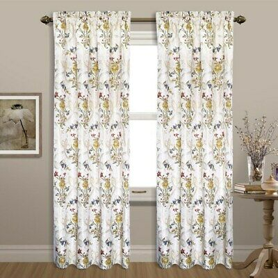 Sale! Assorted Floral Panel #2 Needlepoint Canvas From With Luxury Collection Cranston Sheer Curtain Panel Pairs (View 30 of 42)