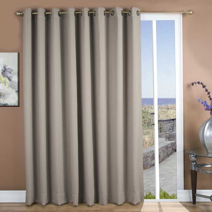 Sallie Patio Solid Blackout Thermal Grommet Single Curtain Panel Within Patio Grommet Top Single Curtain Panels (#32 of 38)
