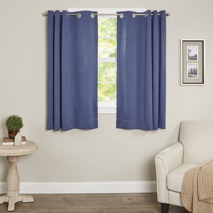 Sallie Short Solid Blackout Thermal Grommet Single Curtain Panel Pertaining To Superior Solid Insulated Thermal Blackout Grommet Curtain Panel Pairs (#36 of 45)