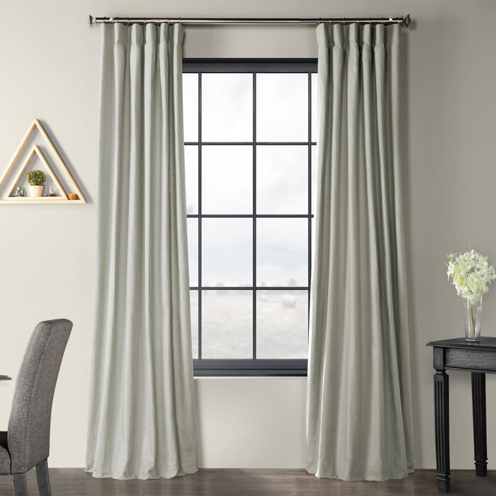 Sanger Country Cotton Linen Weave Solid Room Darkening Rod Pocket Curtain  Panels Throughout Bark Weave Solid Cotton Curtains (View 37 of 50)