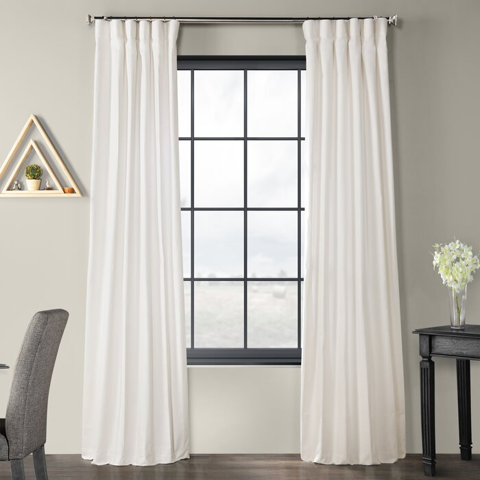Sanger Solid Country Cotton Linen Weave Rod Pocket Single Curtain Panel Within Solid Country Cotton Linen Weave Curtain Panels (#34 of 50)