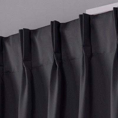 Sateen Pinch Pleat Woven Blackout Back Tab Window Curtain In Sateen Woven Blackout Curtain Panel Pairs With Pinch Pleat Top (View 3 of 40)