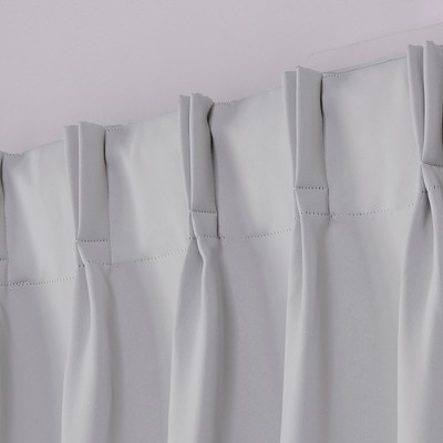 Sateen Pinch Pleat Woven Blackout Back Tab Window Curtain Pertaining To Sateen Woven Blackout Curtain Panel Pairs With Pinch Pleat Top (#33 of 40)