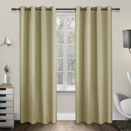 Sateen Twill Weave Insulated Blackout Grommet Top Window For Sateen Twill Weave Insulated Blackout Window Curtain Panel Pairs (View 15 of 29)