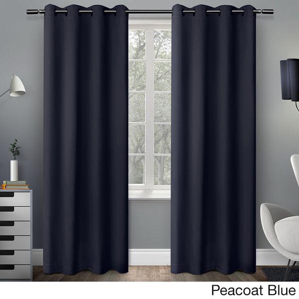 Sateen Twill Weave Insulated Blackout Window Curtain Panel In Sateen Twill Weave Insulated Blackout Window Curtain Panel Pairs (View 2 of 29)