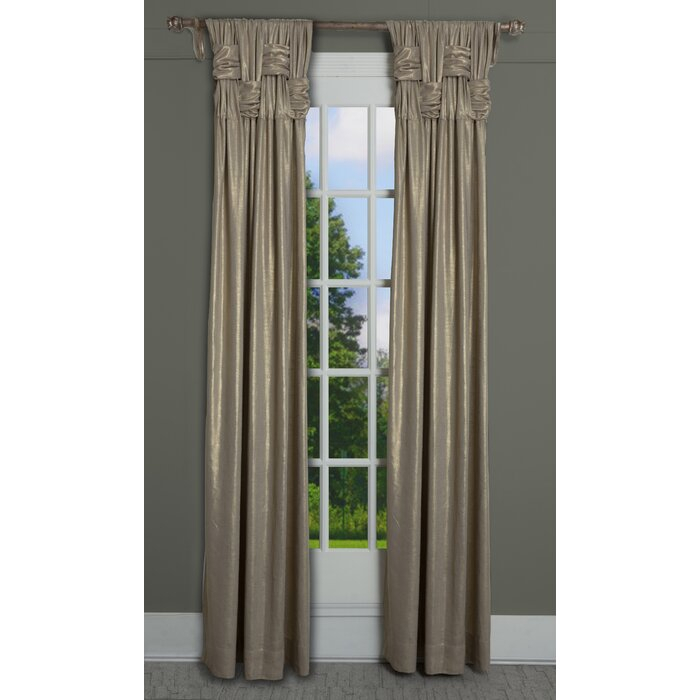 Scholten Shimmer Solid Color Semi Sheer Pinch Pleat Single Curtain Panel For Solid Cotton Pleated Curtains (#40 of 50)
