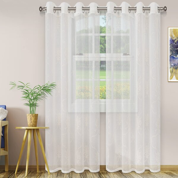 Scroll Curtains | Wayfair Intended For Overseas Leaf Swirl Embroidered Curtain Panel Pairs (View 17 of 50)