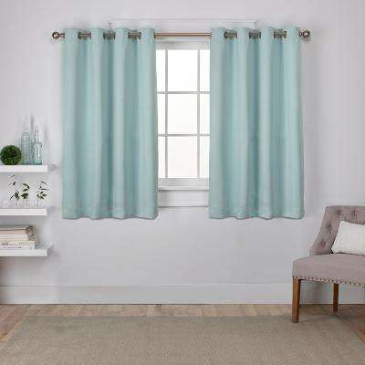 Sea Foam Green Curtains | Best Home Decorating Ideas Throughout Copper Grove Fulgence Faux Silk Grommet Top Panel Curtains (View 39 of 50)