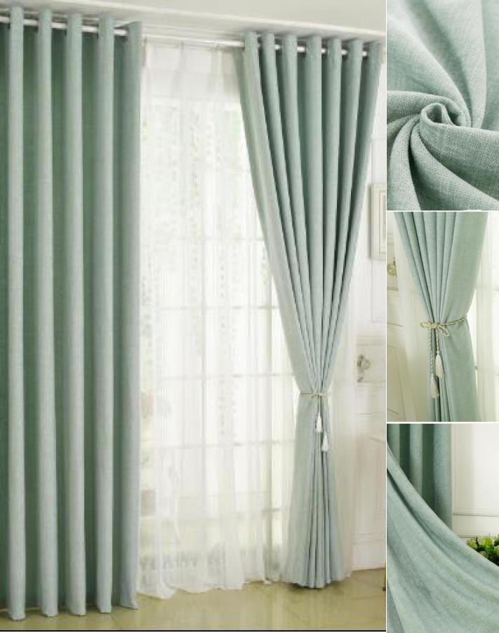 Sea Foam Green Curtains | Best Home Decorating Ideas Within Copper Grove Fulgence Faux Silk Grommet Top Panel Curtains (View 40 of 50)