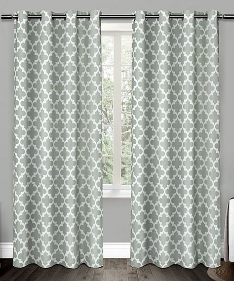 Seafoam Neptune Curtain Panel – Set Of Two | Products Inside Essentials Almaden Fretwork Printed Grommet Top Curtain Panel Pairs (#33 of 38)