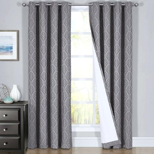 Search Results For Dark Brown Blackout Curtains Set Of 2 For Superior Leaves Insulated Thermal Blackout Grommet Curtain Panel Pairs (View 34 of 50)