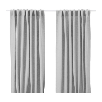 Secrets To Inexpensive But Good Drapery – Emily Henderson Throughout Solid Country Cotton Linen Weave Curtain Panels (#35 of 50)