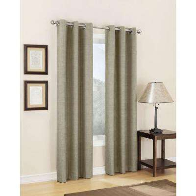 Semi Opaque Linen Tom Thermal Lined Curtain Panel, 40 In. W X 63 In (View 27 of 39)