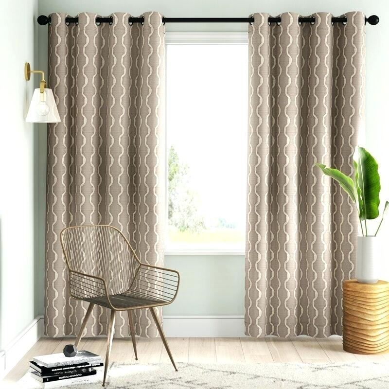 Semi Sheer Grommet Curtains – Slickstrips Intended For Baroque Linen Grommet Top Curtain Panel Pairs (View 39 of 48)
