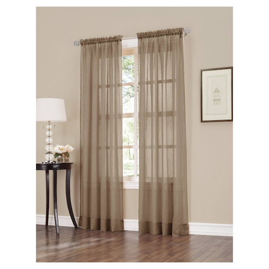 Set Of 2 Erica Crushed Sheer Voile Curtain Panel No (#40 of 50)