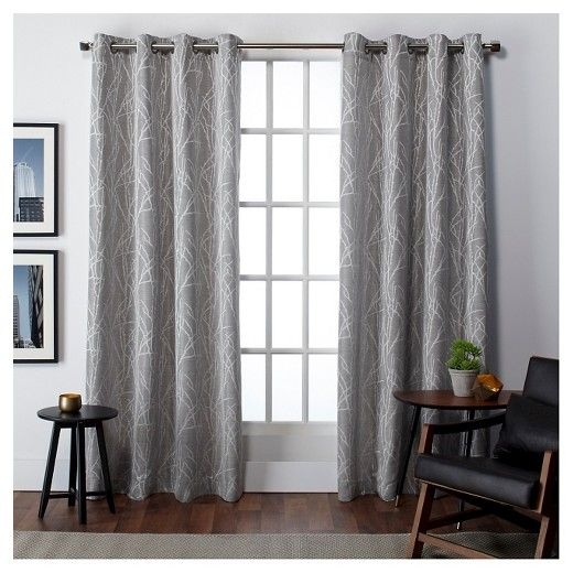 """Set Of 2 Finesse Curtain Panels Ash Gray (54""""x96"""") Exclusive Pertaining To Sugar Creek Grommet Top Loha Linen Window Curtain Panel Pairs (View 6 of 50)"""