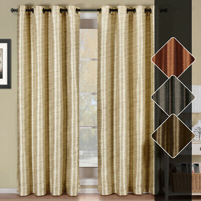 (set Of 2) Geneva Lined Blackout Grommet Curtain Panels 104 Inches Wide Panels | Ebay With Blackout Grommet Curtain Panels (View 26 of 40)