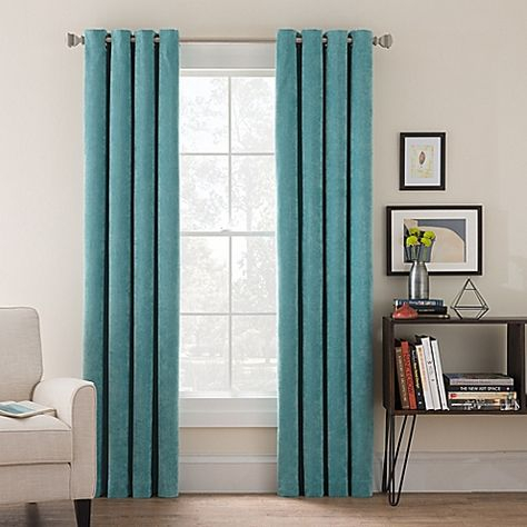 Set Of 2 Sateen Twill Weave Insulated Blackout Grommet Top Intended For The Curated Nomad Duane Jacquard Grommet Top Curtain Panel Pairs (#23 of 50)