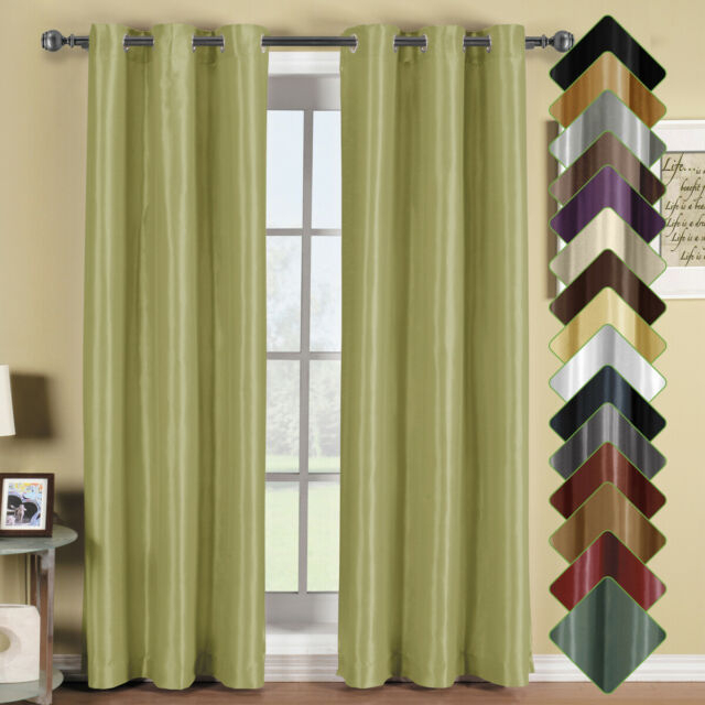 (Set Of 2) Soho Thermal Insulated Blackout Curtains Top Grommet Curtain  Panels Throughout Chevron Blackout Grommet Curtain Panels (View 1 of 50)
