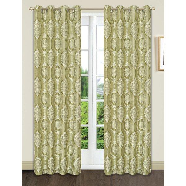 Set Of 4 Curtains   Wayfair Pertaining To Pastel Damask Printed Room Darkening Grommet Window Curtain Panel Pairs (#37 of 50)