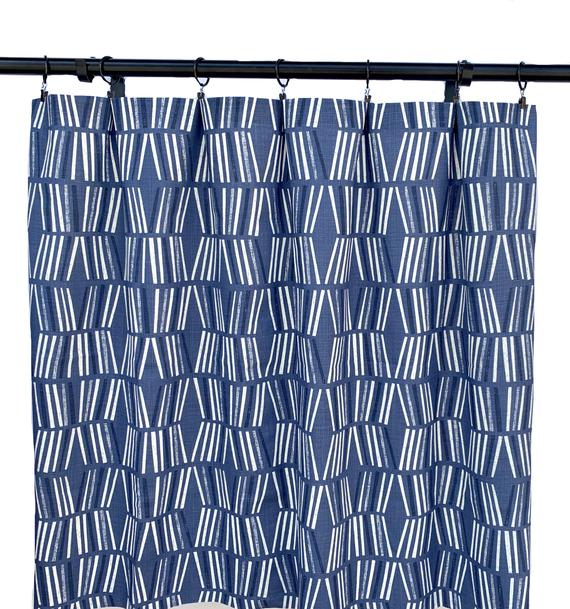 Set Of Navy Curtains, Navy Blue Curtain, 2 Curtain Panels, Curtains, Home  Decor, Ikat Blue Curtains, Boho With Regard To Ikat Blue Printed Cotton Curtain Panels (#44 of 50)