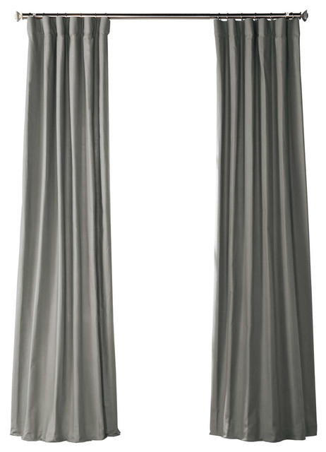 Shadow Gray Solid Country Cotton Curtain Single Panel, 50W X 84L With Bark Weave Solid Cotton Curtains (View 38 of 50)