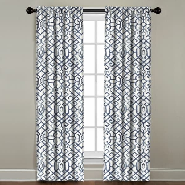 Shannon Printed Cotton Rod Pocket Curtain Panel | Client Ep With Sarong Grey Printed Cotton Pole Pocket Single Curtain Panels (#50 of 50)