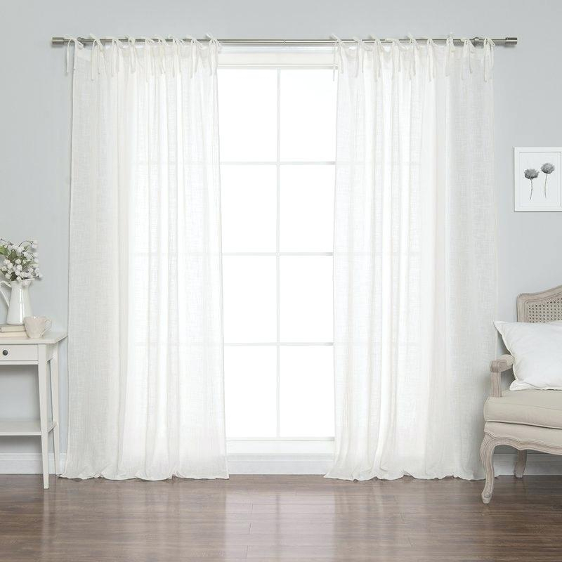 Sheer Cotton Curtains – Gercekmedyumbul With Regard To Solid Cotton Curtain Panels (View 30 of 47)