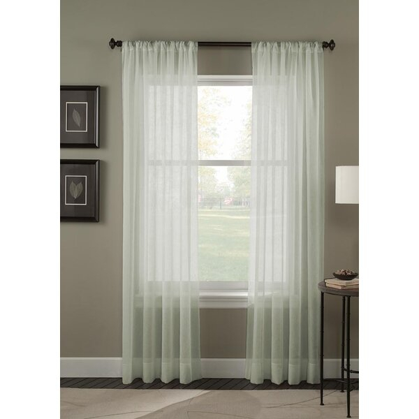 Sheer Crinkle Curtains | Wayfair (View 34 of 36)