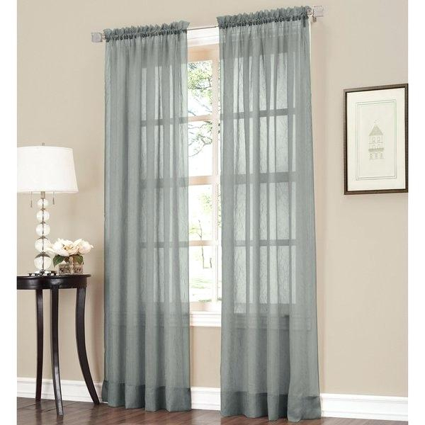 Sheer Crushed Voile Single Curtain Panel Curtains Erica Inside Erica Crushed Sheer Voile Grommet Curtain Panels (#41 of 50)