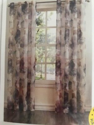 Sheer Curtain Panel Curtain Andorra Watercolor Floral Crushed Texture No (View 37 of 46)