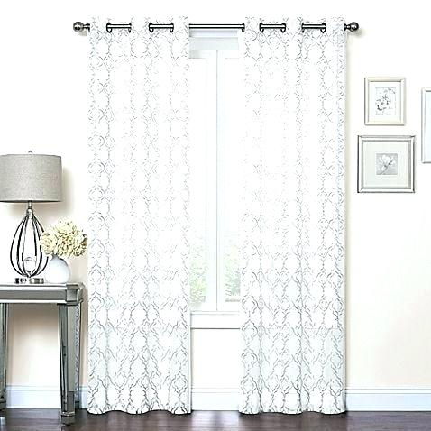 Sheer Curtains Bed Bath And Beyond With Regard To Extra Wide White Voile Sheer Curtain Panels (View 33 of 50)