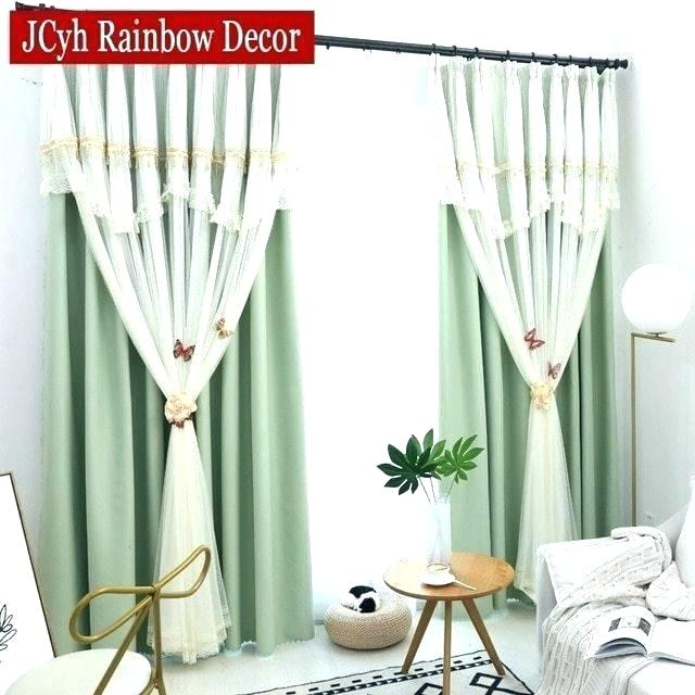 Sheer Curtains With Tassels Regarding Tassels Applique Sheer Rod Pocket Top Curtain Panel Pairs (View 34 of 45)