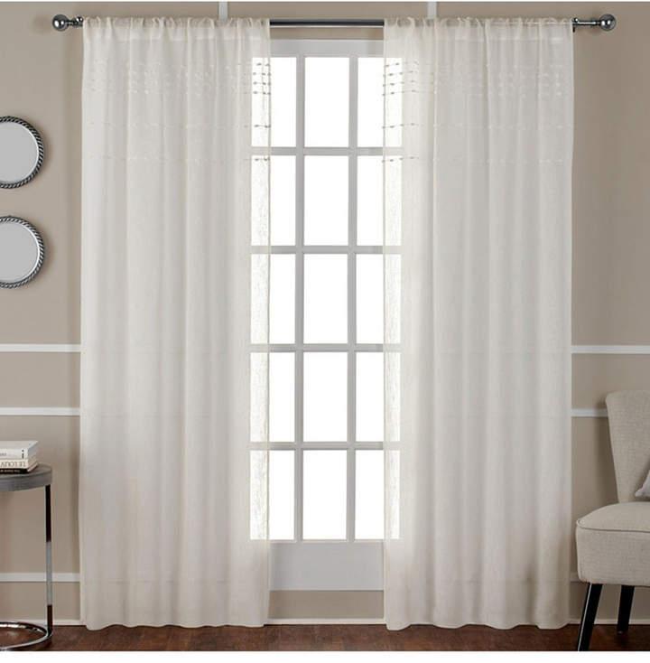 Sheer Drape – Shopstyle Regarding Belgian Sheer Window Curtain Panel Pairs With Rod Pocket (View 46 of 46)