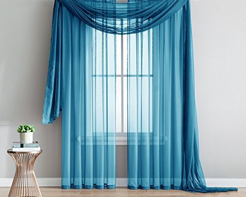 Sheer | Draperies & Curtains Inside Luxury Collection Monte Carlo Sheer Curtain Panel Pairs (#23 of 29)