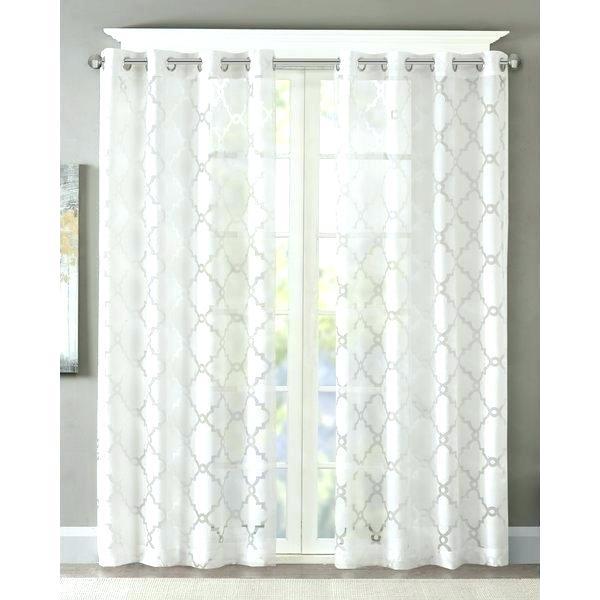 Sheer Geometric Curtains – Rockinghsanctuaryfarm With Fretwork Print Pattern Single Curtain Panels (View 38 of 46)