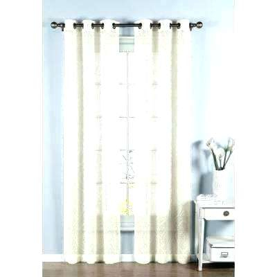 Sheer Ivory Curtains Breathtaking Cotton Blend Burnout In L For Insulated Cotton Curtain Panel Pairs (#32 of 50)