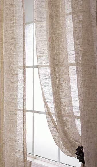 Sheer Linen Curtains,i Would Love Something Like This In My Inside Montpellier Striped Linen Sheer Curtains (#41 of 50)
