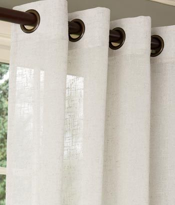 Sheer Linen Grommet Top Curtains From Country Curtains 104 Regarding Penny Sheer Grommet Top Curtain Panel Pairs (#47 of 49)