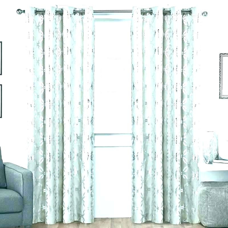 Sheer Metallic Curtains – Kindershow With Regard To Total Blackout Metallic Print Grommet Top Curtain Panels (#40 of 50)