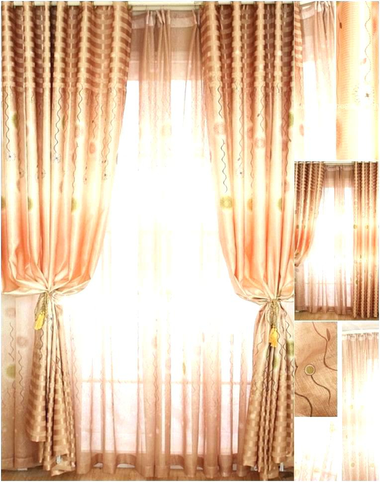 Sheer Orange Curtain Panels – Emjepd Pertaining To Chevron Blackout Grommet Curtain Panels (View 40 of 50)