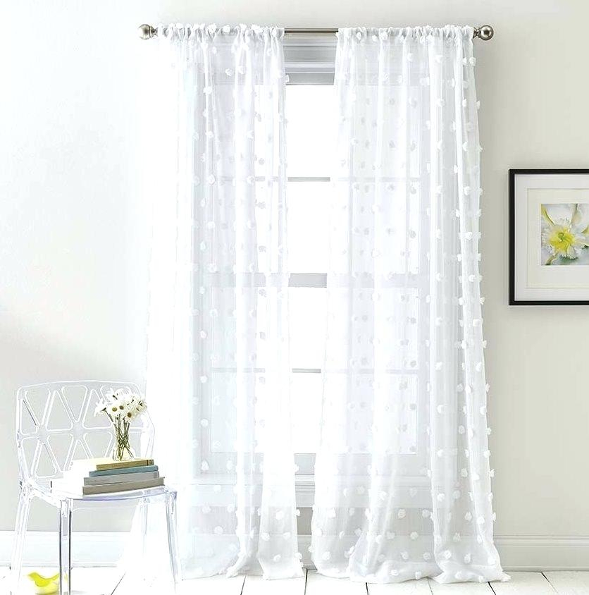Sheer Panels Home Jacquard Sheer Double Pinch Pleat Top For Double Pinch Pleat Top Curtain Panel Pairs (#43 of 50)