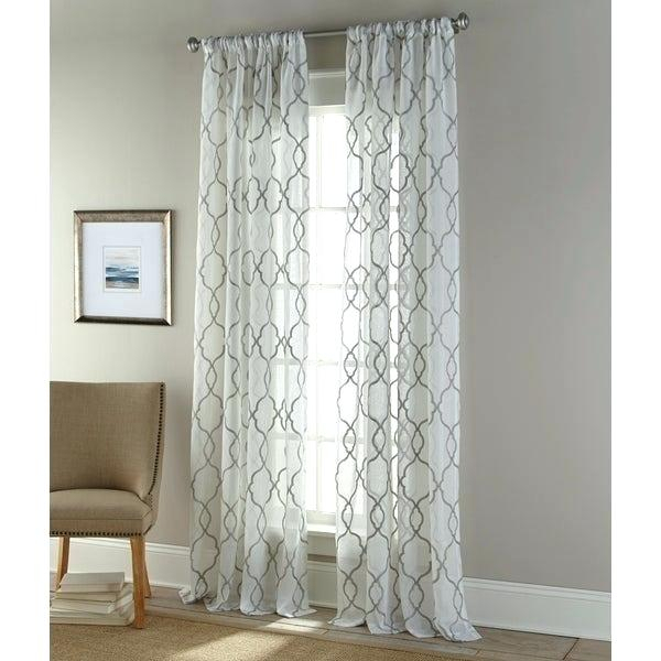 Sheer Panels Home Jacquard Sheer Double Pinch Pleat Top Throughout Double Pinch Pleat Top Curtain Panel Pairs (#44 of 50)
